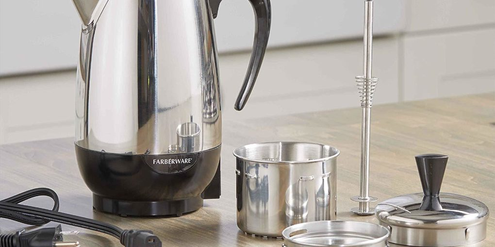 Spectrum Brands Farberware 8-Cup Percolator, Stainless Steel