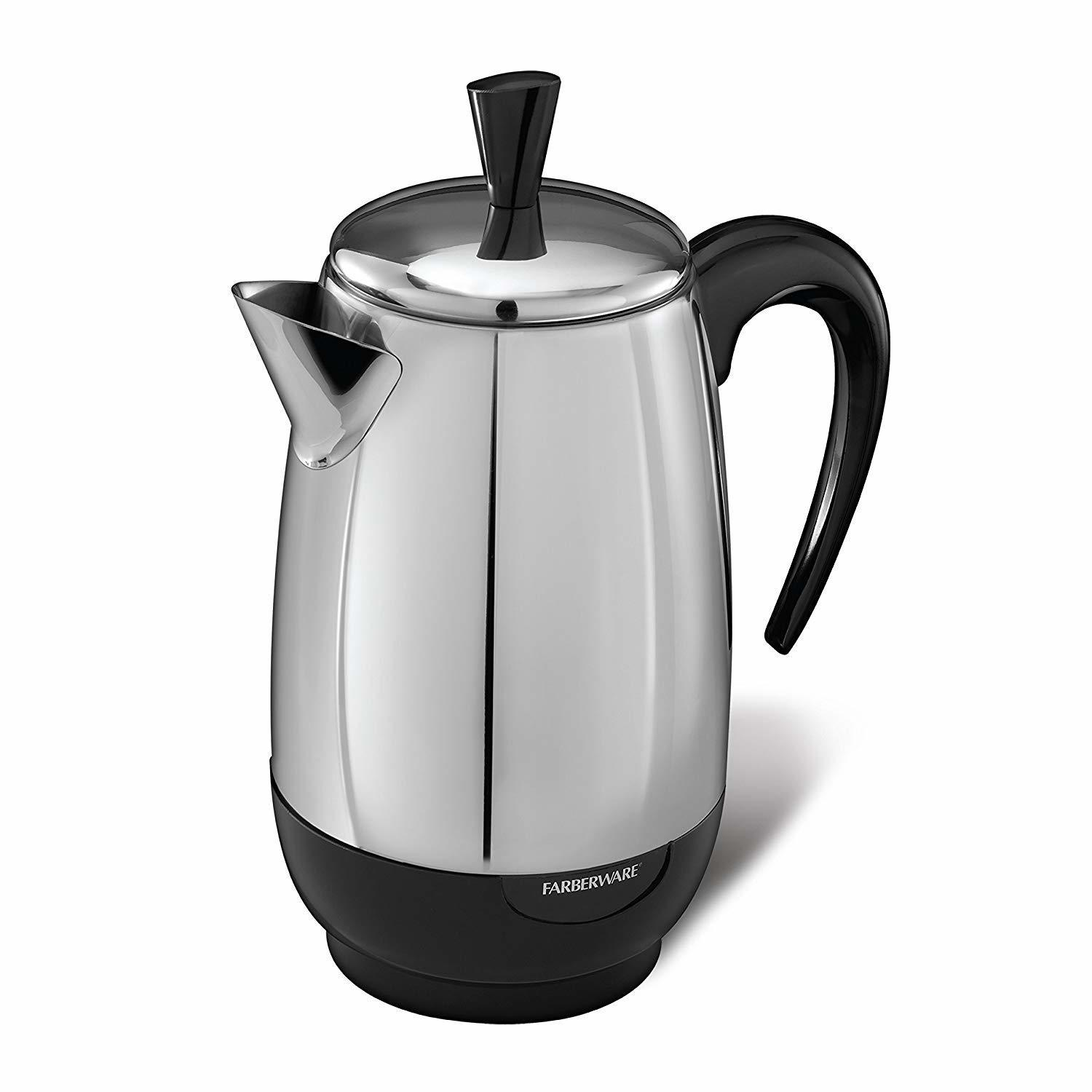 Farberware 8-Cup Percolator, Stainless Steel, FCP280