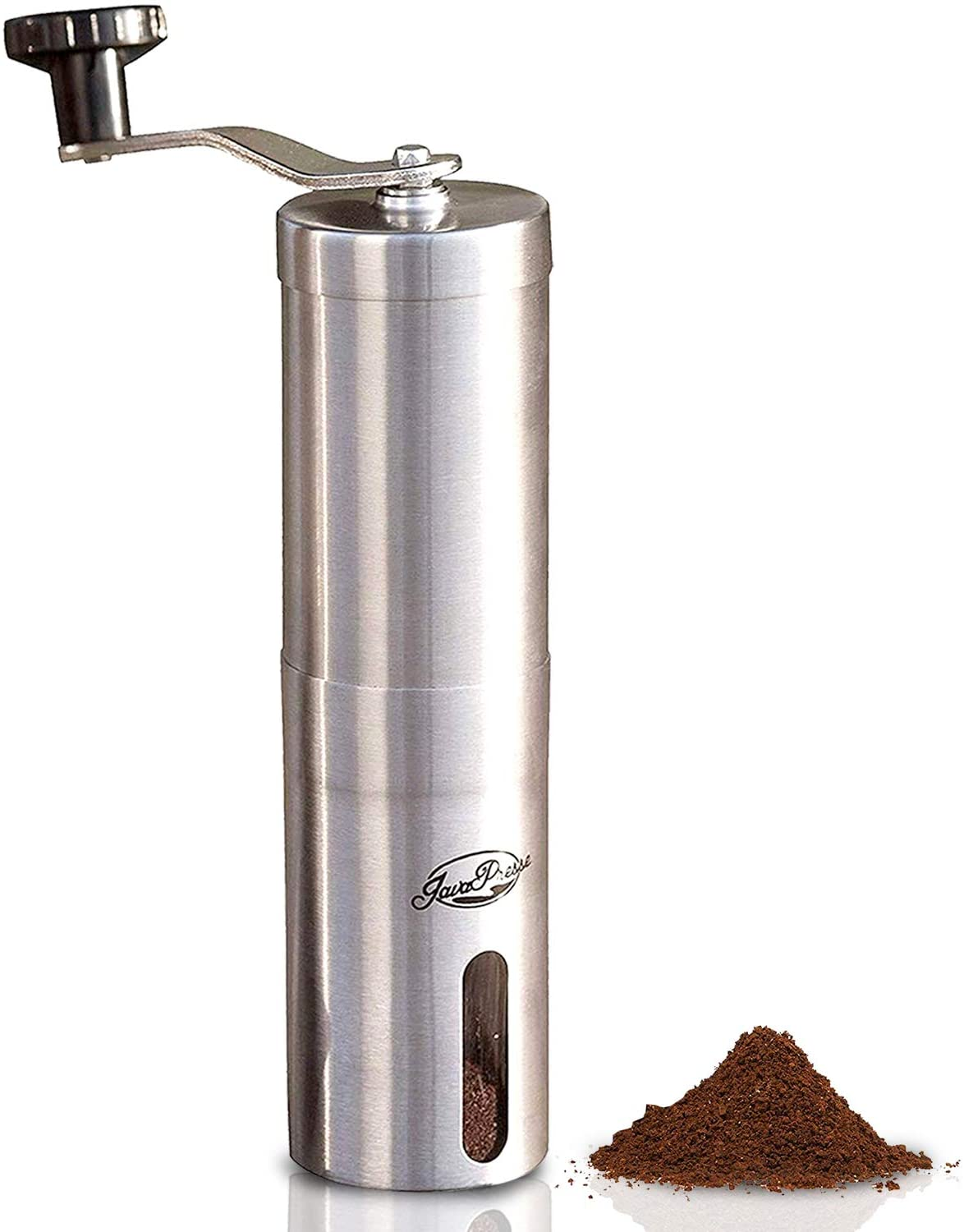 JavaPresse Manual Coffee Grinder with Adjustable Setting -