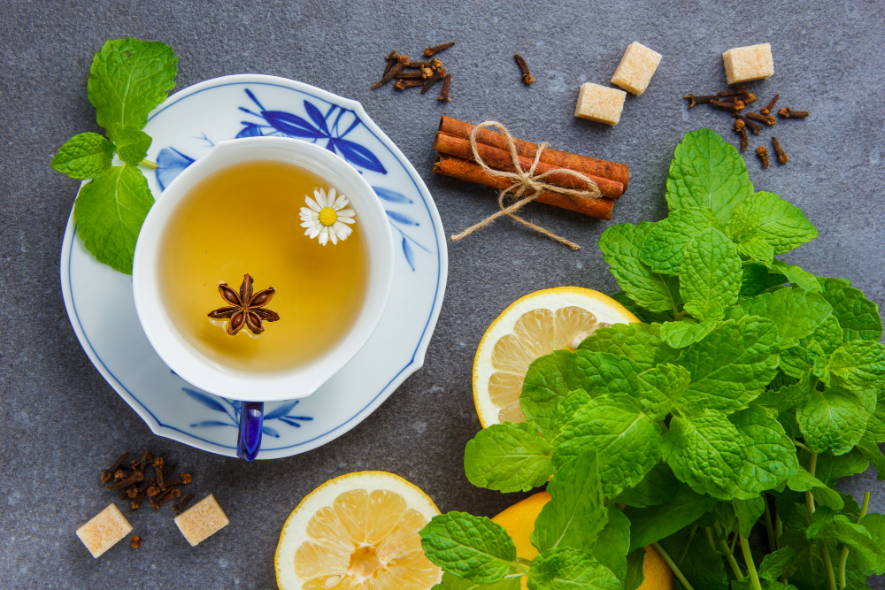 how to dry mint for tea